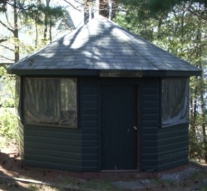 gazebo on Muskoka Lake