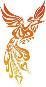 image of a phoenix tattoo